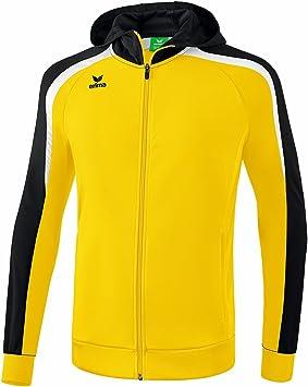 f7be0adf166b Erima Kid s Liga Line 2.0 Hooded Training Jacket, Yellow Black White, Size