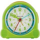 JACQUES FAREL Happy Learning Kinder-Wecker Junge Mädchen Grün ohne Ticken Snooze Analog Quarz ACL 02