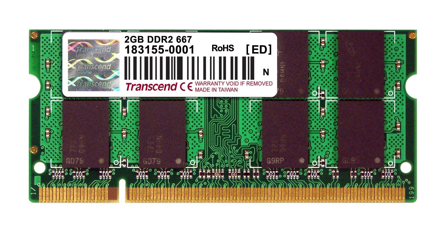 Memoria RAM 2GB Transcend Ddr2 667 So-Dimm 5-5-5 Ts256Msq64V6U