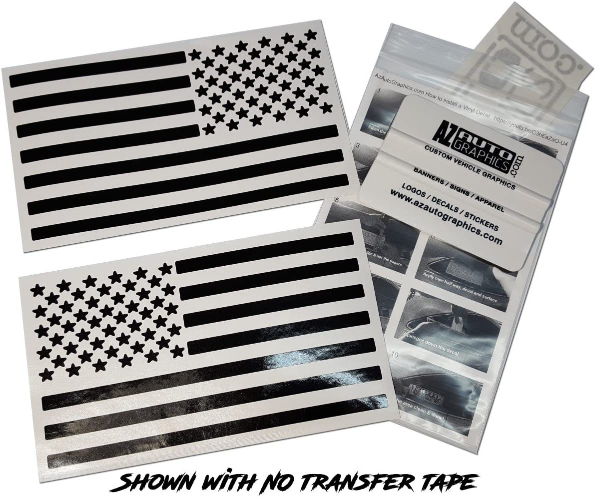 3-PACK United States Flag Sticker Decals 5-1//2 x 3 Inches Vinyl Adhesive Back