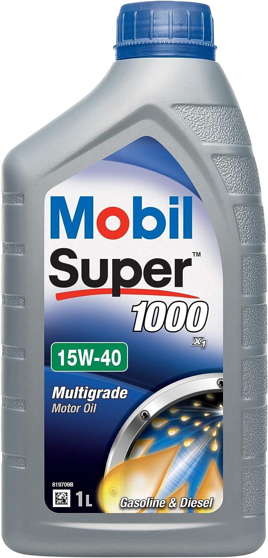 Mobil 151181 Super 1000 X1 - Aceite semisintético de Motor (15W-40 ...
