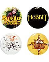 The Hobbit - Unisex-adult The Hobbit - Logo Pin Pack Multi