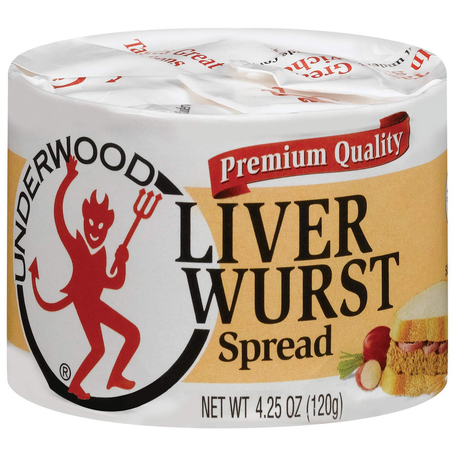 Underwood Liver Wurst Spread, 4.25 Ounce (Pack of 24)