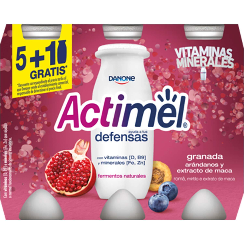 Danone Actimel Bebida de Granada, Arándanos y Macas ...