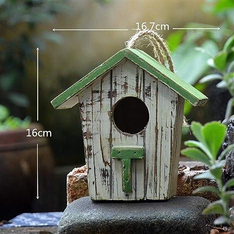 ZANGAO Jardín de decoración Casa del pájaro Pequeña casa Rural de ...