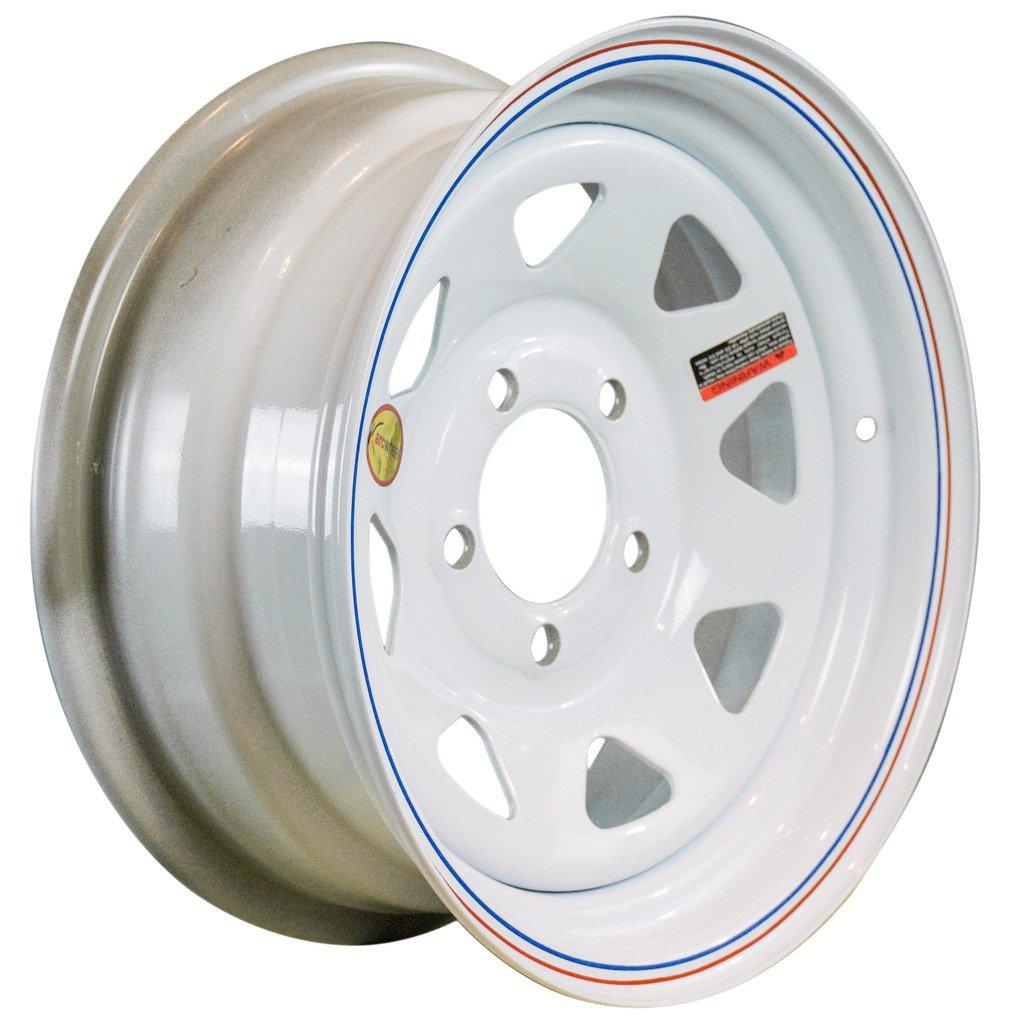 Arcwheel White Spoke Steel Trailer Wheel - 14'' x 6'' Rim - 5 on 4.5 1,870lb Capacity