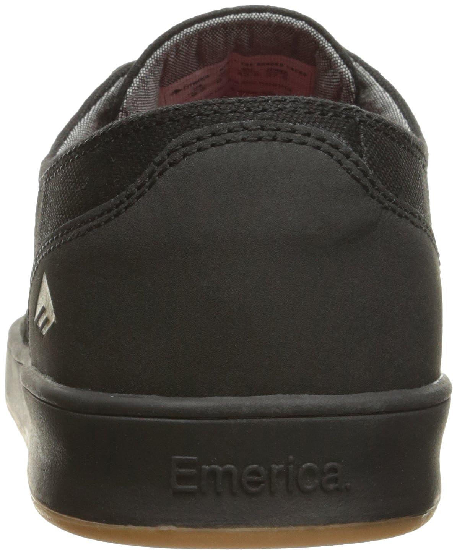 Emerica Romero Skateschuh mit Schnürung, Schnürung, Schnürung, Schwarz (schwarz Gum grau), 39.5 EU M d24f48