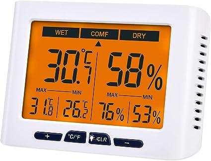 Digital Display Thermometer Wettermessung Hygrometer Raumklima Innentemperatur