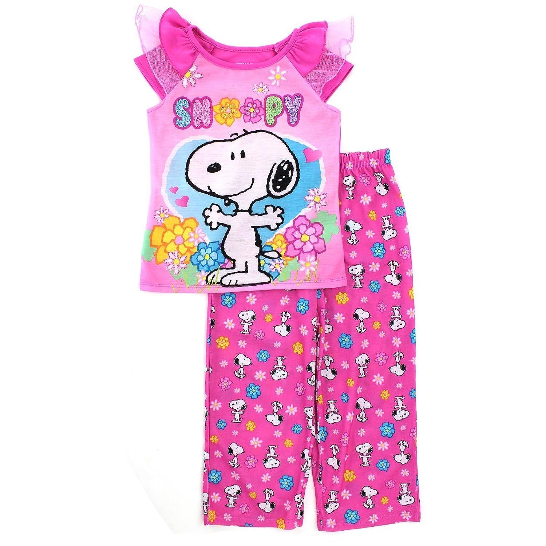 Peanuts Snoopy Girls Poly Pajamas (Toddler/Little Kid/Big Kid)