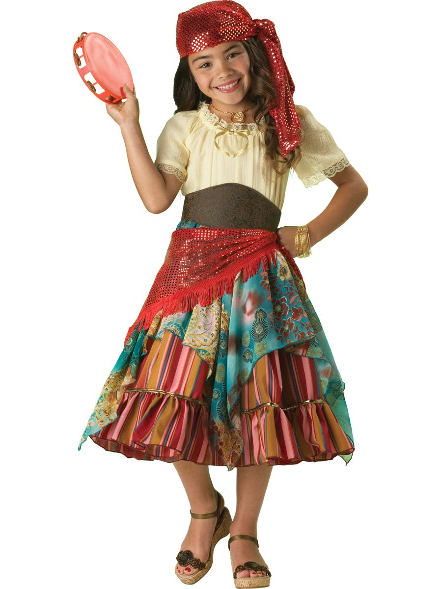 InCharacter Costumes Girls Fortune Teller Costume, Multi Color, Large