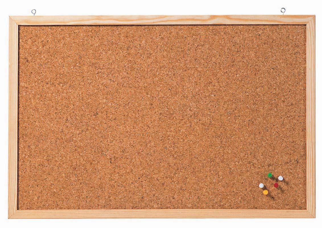 braun 120 x 80 cm Franken CC-KT8012E Korktafel Memoboard