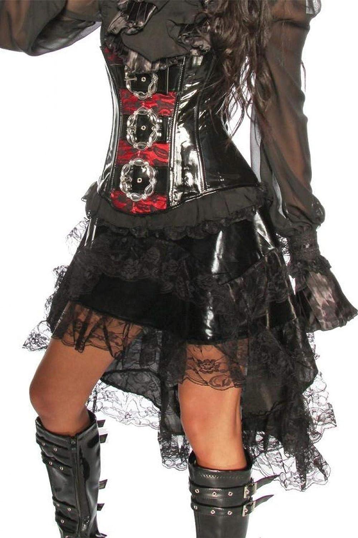 Falda con volantes con encaje negro de rock - multicolor, otros ...