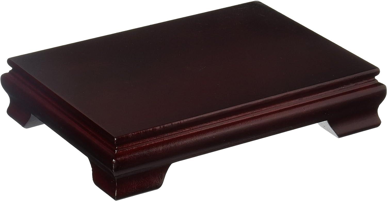 "Oriental Furniture Rosewood Rectangular Stand - 7""x5"""