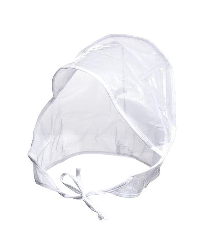 FIT RITE Rain Bonnet with Full Cut Visor & Netting - One Size Fits All