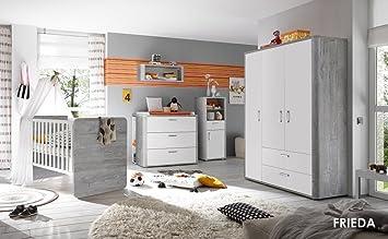 Babyzimmer SET Frieda 3 teilig Kinderbett, Wickelkommode und Schrank ...