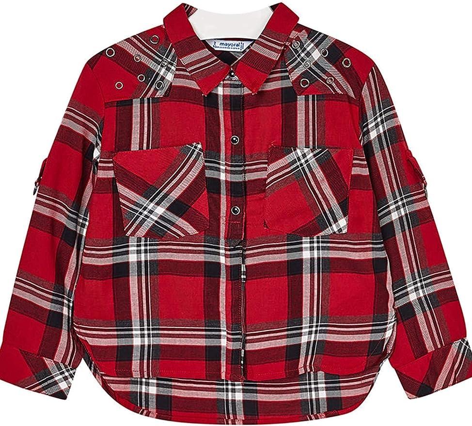 Mayoral 4126 - Blusa de Cuadros para niña, Color Rojo - Rojo - 3 años: Amazon.es: Ropa y accesorios