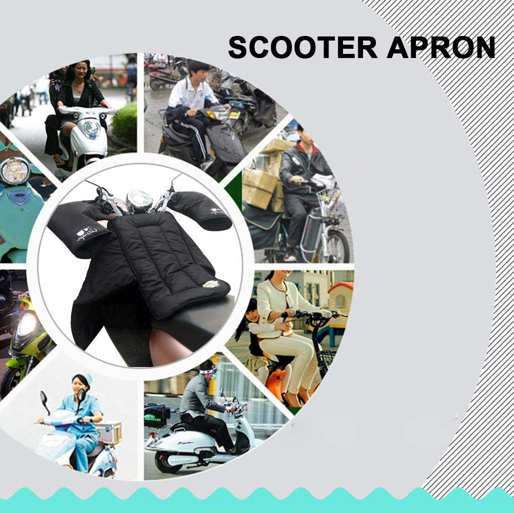 Easy-topbuy Cubrepiernas para Scooter Impermeable Cubrepiernas Moto Fundas para Motos De Algod/ón Engrosado para Motocicletas Scooter Electric Cars Negro