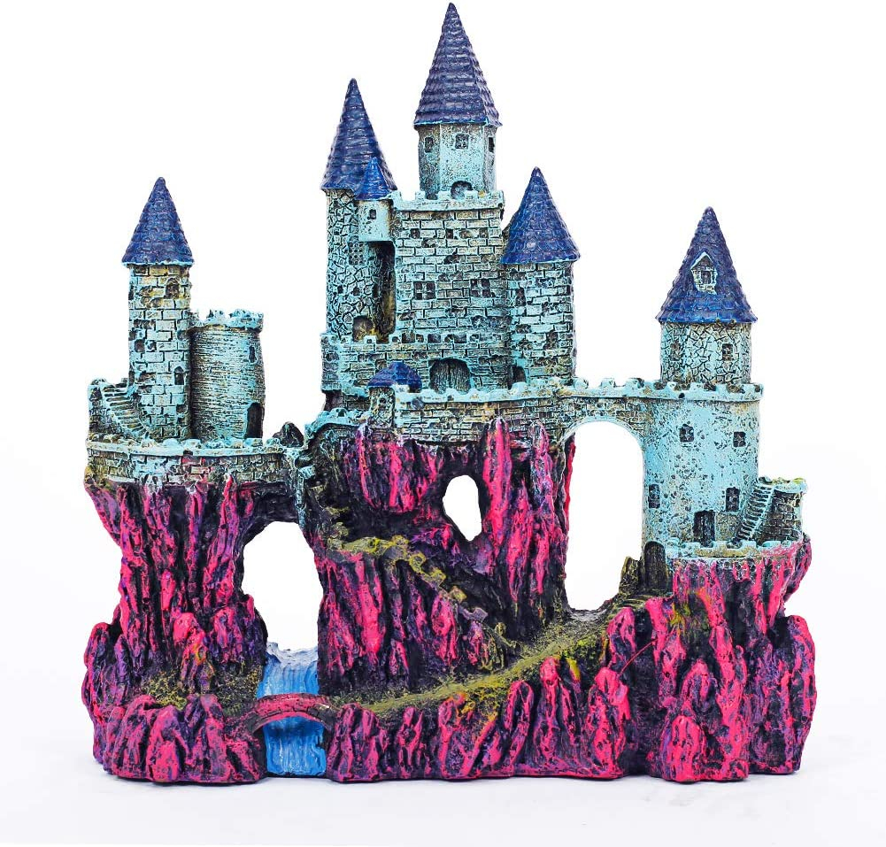 Miracliy Aquarium Decorations Castle, Aquarium Ornament Super Castle,10""