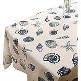 Mantel rectangular de lino Toechmo, lavable, estilo vintage, distintos tamaños, algodón, exterior, 36 X 36 Inch (90*90CM)