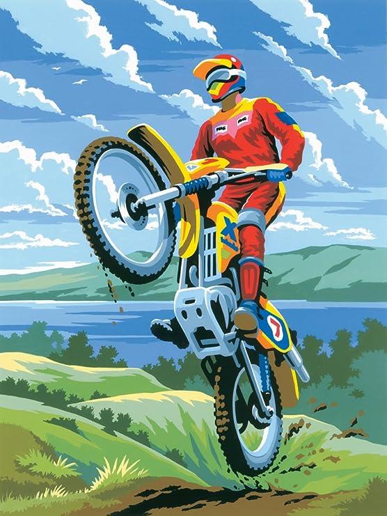 Royal & Langnickel - Juego de pintura para motocross, tamaño A4 ...