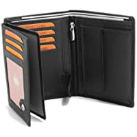 """Portafoglio nero in vera pelle in formato verticale - PROTEZIONE RFID - del modello """"Fa.Volmer #Ph3"""""""