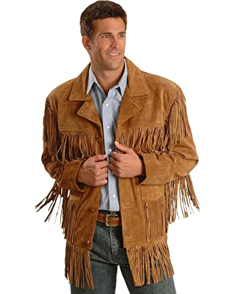 c5d9b9a2bf7 Liberty Wear Men s Fringe Suede Leather Jacket at Amazon Men s Clothing  store
