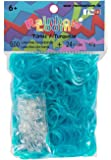 Original Rainbow Loom Silicone Bands - turquoise jelly - 600 Bands + 24 Clips