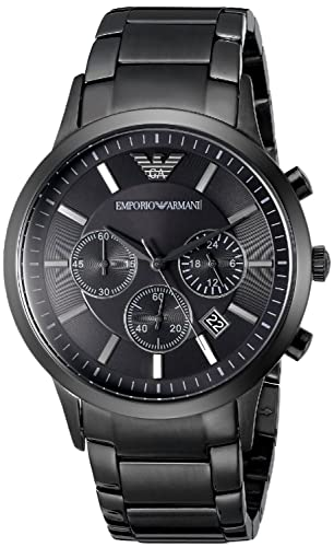 Men s Emporio Armani AR2453 Quartz Black Dial Stainless Steel Chronograph  Watch 3a89fbb12