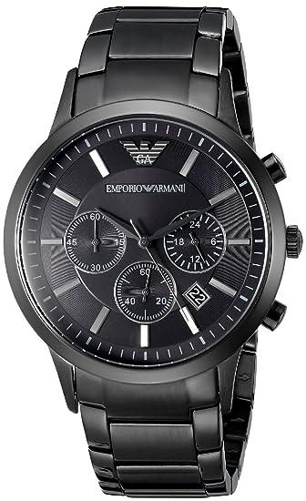 Emporio Armani AR2453, orologio al quarzo, da uomo, con cronografo,  quadrante di colore nero e cinturino in acciaio inox Amazon.it Orologi
