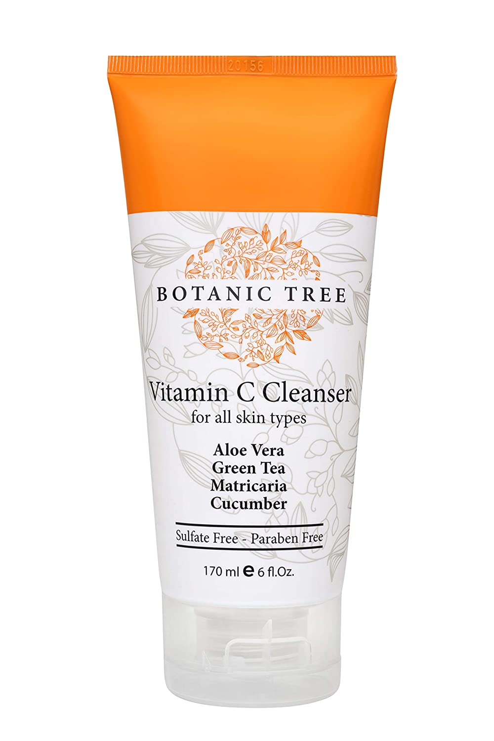 Botanic Tree Vitamin C Face Wash-Daily Skin Cleansing Formula Reduces Acne Breakouts, Blemishes, Wrinkles-Anti Aging Facial Cleanser w/ Organic Ingredients- Double Cleanse w/ Glycolic Acid Face Wash - 6 Oz: Beauty