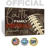 'Faith Family Football Friends Fun' Art by Marla Rae