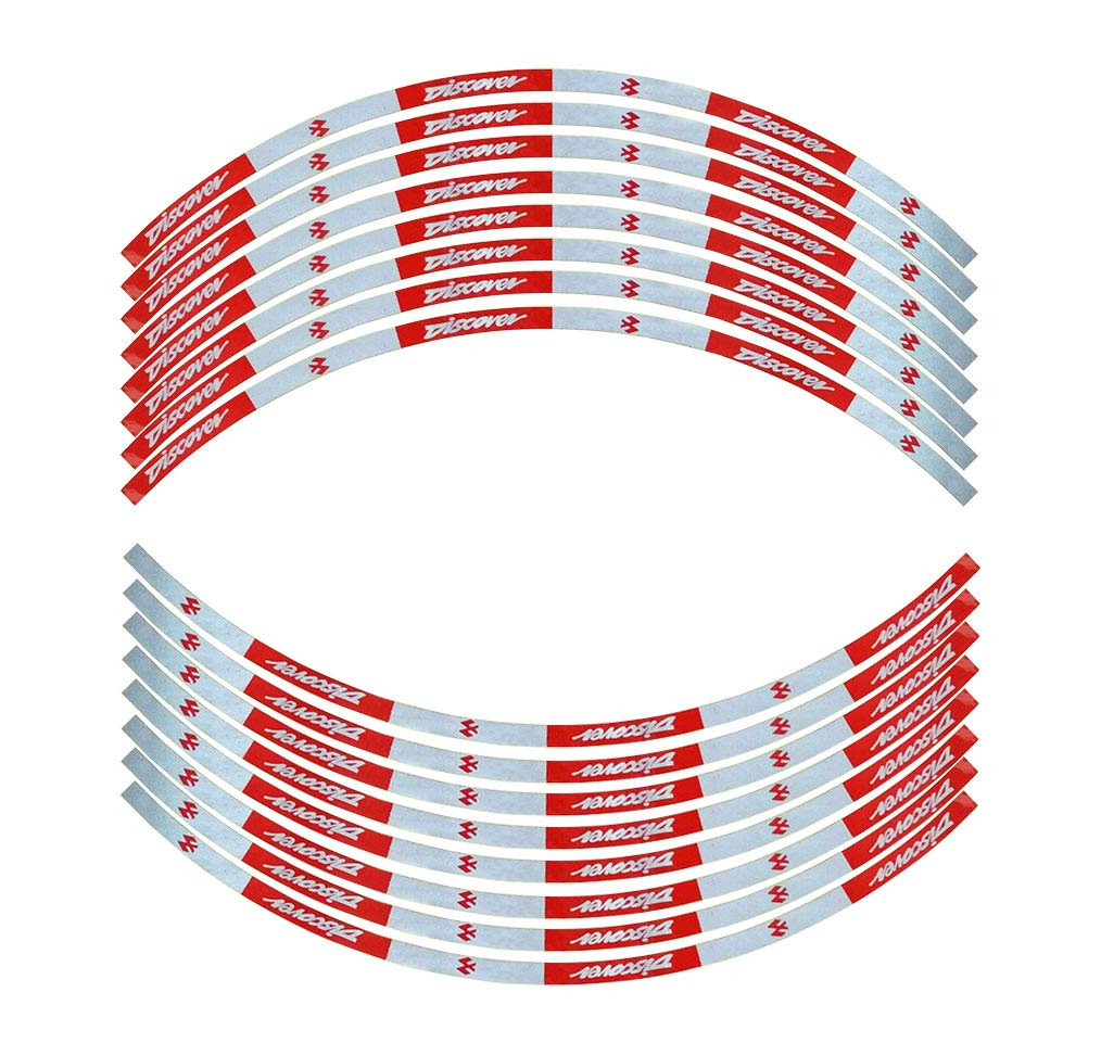 Bajaj discover motorcycle bike rim stripe wheel decal red tape sticker amazon in car motorbike