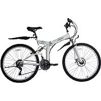 """Vélo de montagne pliable26"""" - 26SF02W - Dérailleur Shimano à 21 vitesses - Sac de transport - Ecosmo"""