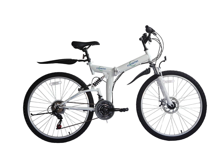 ECOSMO 26 Folding Mountain Bicycle Bike 21SP SHIMANO-26SF02W+Carry Bag