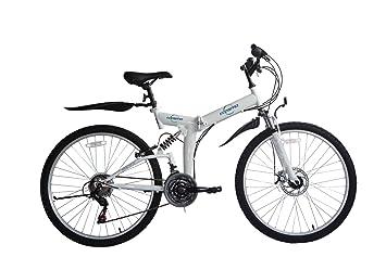 ECOSMO 66,04 cm plegable bicicleta 21SP shimano-26sf02w + bolsa de transporte