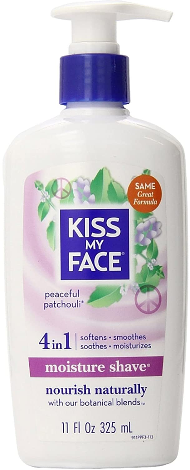 Kiss My Face Moisture Shave, Peaceful Patchouli 11 oz (Pack of 5) KMF