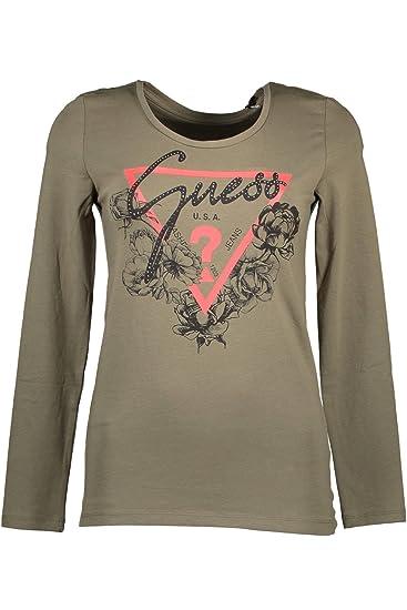 a64da8b5eac9 Guess Jeans W83I40K6YW0 T-Shirt Long Sleeves Women Verde Duo XL: Amazon.co. uk: Clothing