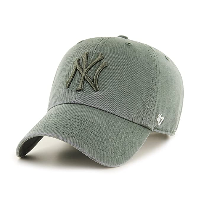 Gorra 47 Brand - Mlb New York Yankees Clean Up Curved V Relax Fit verde/verde talla: Ajustable: Amazon.es: Ropa y accesorios