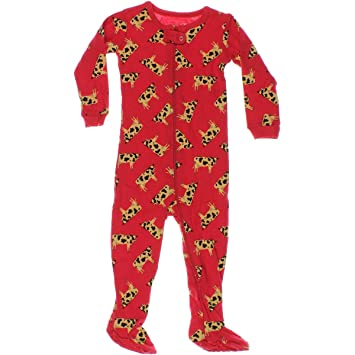 05fbe68999f0 Leveret Baby Boys Girls Cow Footed Sleeper Pajama 100% Cotton (12-18 ...