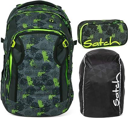 satch Pack Schulranzen Rucksack Schulrucksack Tasche Off Road Schwarz Grün