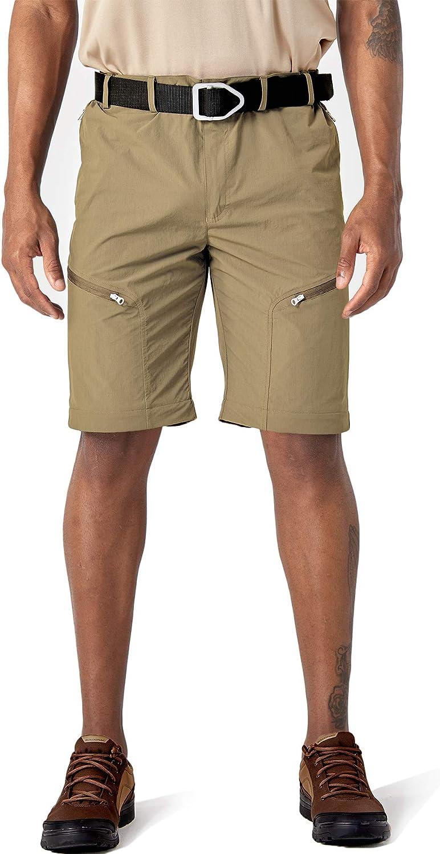 TACVASEN Pantalones de senderismo para hombre de secado r/ápido con cremallera y bolsillos con cremallera