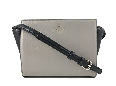5d5a4bdfa Kate Spade Hayden Grand Street Colorblock Leather Crossbody Bag in Mousse  Frosting/Black