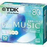 TDK CD-R 音楽用 80分 カラーミックス インクジェットプリンタ対応 10枚パック CD-RDE80CPMX10N