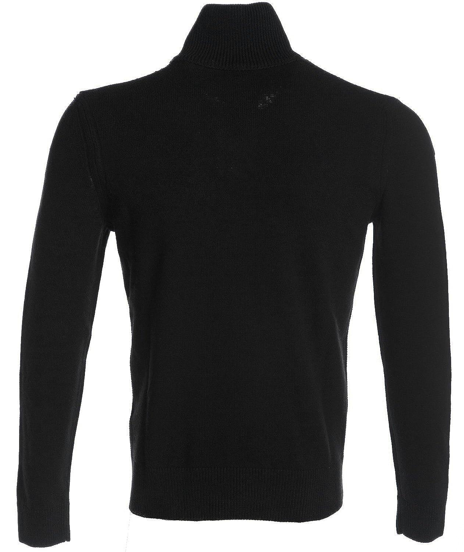 98a3f9a56 Hugo Boss Orange 50373767 Almore Regular Fit Quarter Zip Black Jumper L:  Amazon.co.uk: Clothing