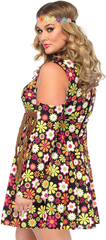 Leg Avenue Groovy Hippie 60s Costume: Clothing