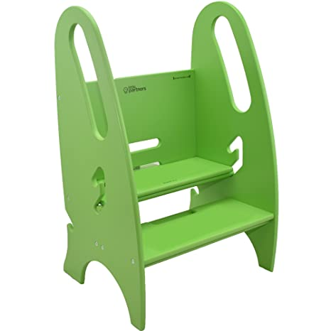 Super Little Partners The Growing Step Stool Adjustable Height Nursery Kitchen Or Bathroom Footstool Wooden Non Tip Design For Both Toddlers Adults Forskolin Free Trial Chair Design Images Forskolin Free Trialorg