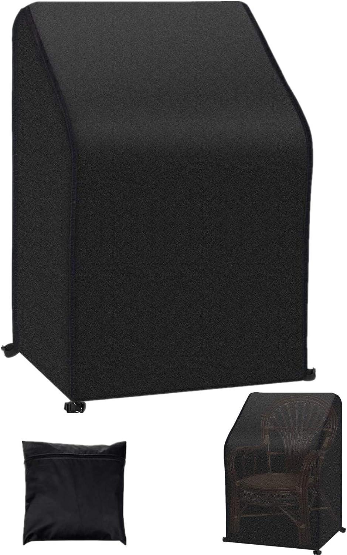 Harita Patio Chair Cover Waterproof, Heavy Duty Outdoor Furniture Cover, Backyard Lawn Balcony Furniture Deep Seat Cover, Black