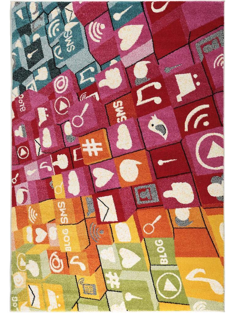 Benuta Teppich Noa Keyboard Multicolor 160x230 cm   Moderner Teppich für Wohn- und Schlafzimmer