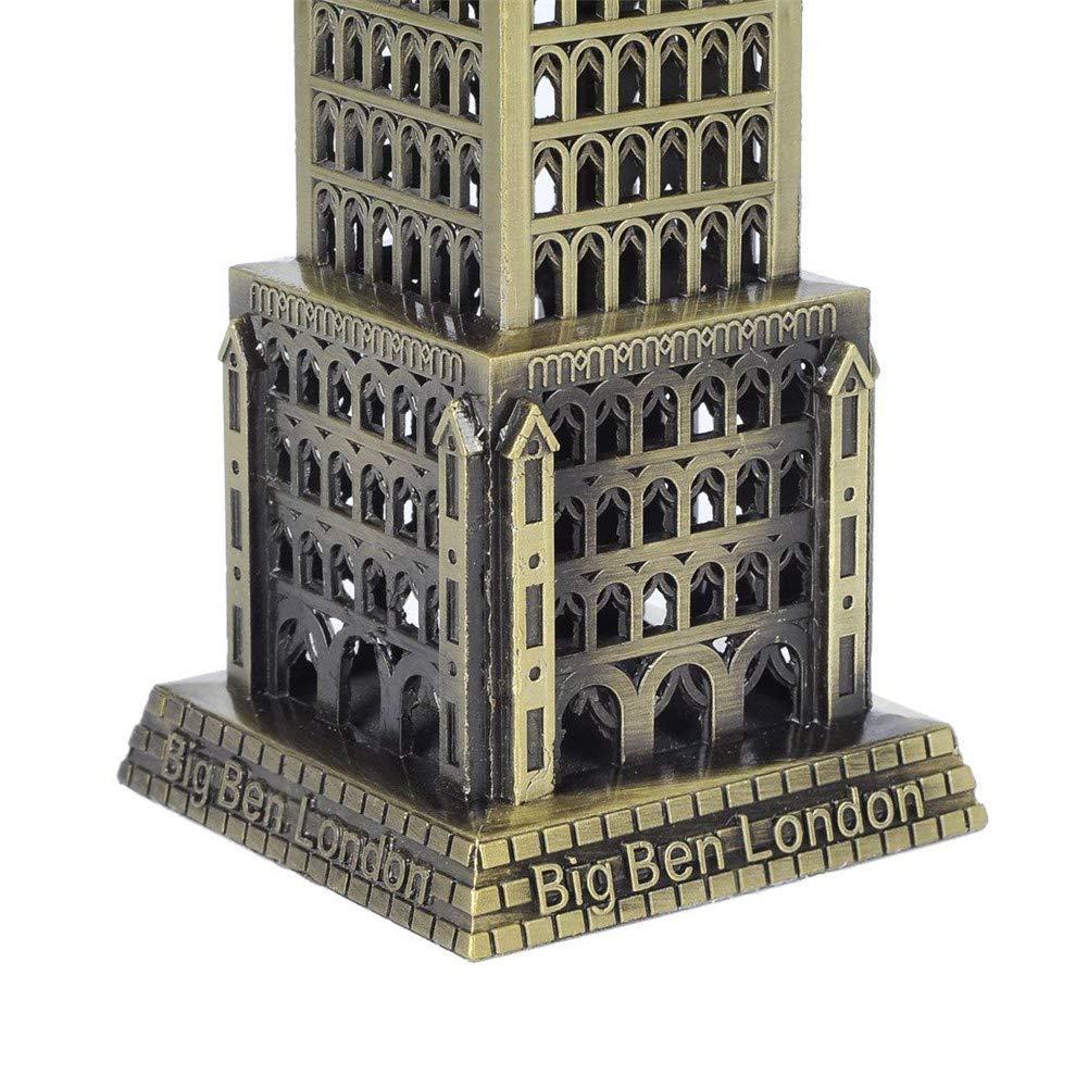 Bronze PROW/® 7,5 Pouces Angleterre Big Ben B/âtiment Mod/èle M/étal Statue Collectionner Figurine pour Cadeaux personnalis/és Tourisme Souvenir Bureau D/écoration
