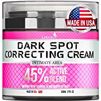 Dark Spot Remоver Cream for Intimate Areas, Body, Face, Bikini and Sensitive Areas - Made in USA - Underarm Cream with Hyaluronic Acid & Mulberry Extract - for Face & Body - VEGAN (1.7 OZ)